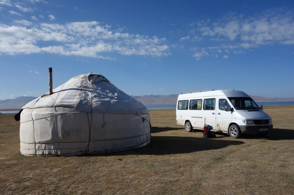 """JAKARTA DISORDER-Tour: """"Bir Duino Kyrgyzstan 2014"""", screening in the yurts of the nomads on the high plains"""